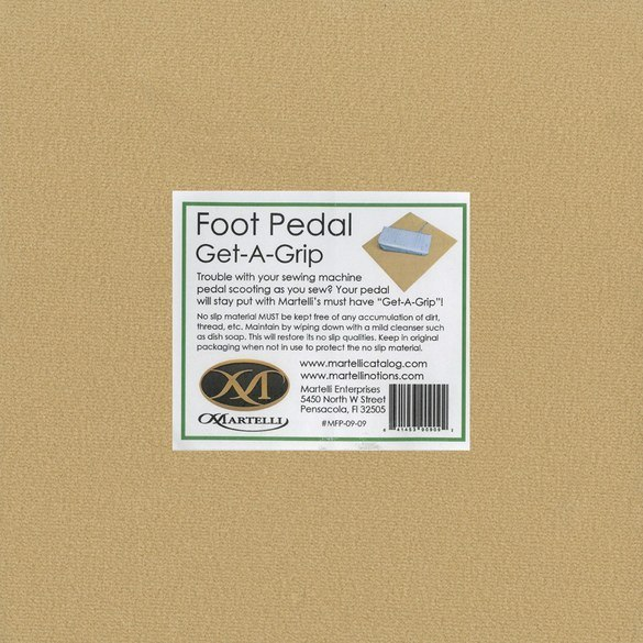 Get-A-Grip Non-Slip Foot Pedal Pad, Martelli