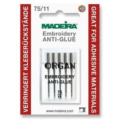 Anti-Glue Needles (5pack), Size 75/11, Madeira