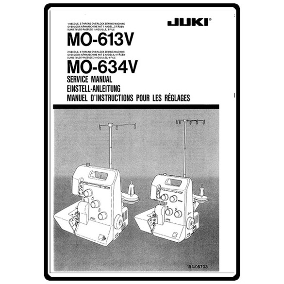 Service Manual, Juki MO-613V