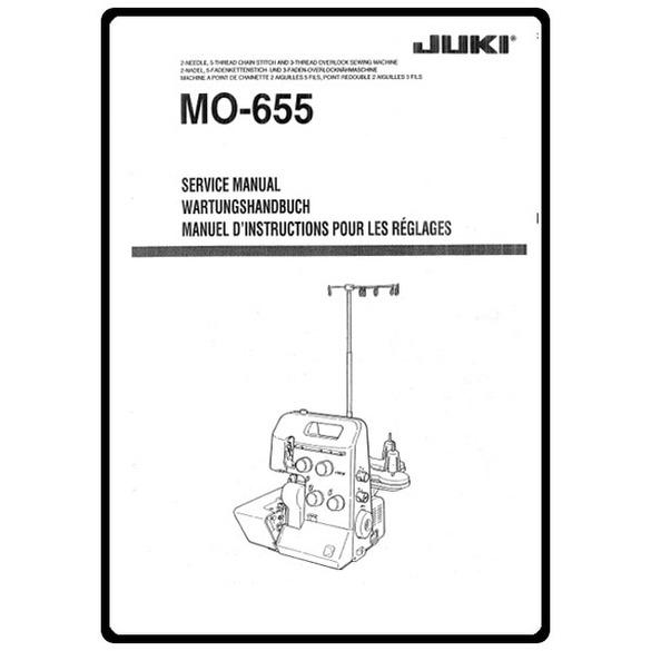 Service Manual, Juki MO-655