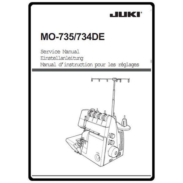 Service Manual, Juki MO-734DE
