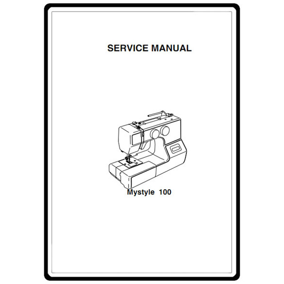 Service Manual, Janome My Style 100