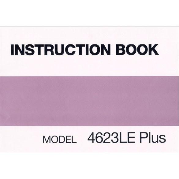 Instruction Manual, Janome (Newhome) 4623LE Plus