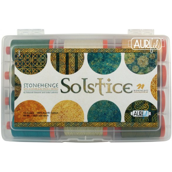 Aurifil 50wt, Solstice Thread Collection - 12 Spools (1422 yds)