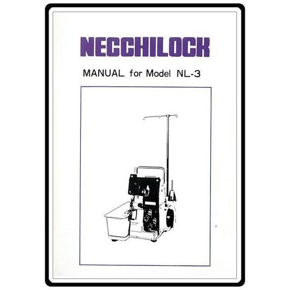 Instruction Manual, Necchi NL3