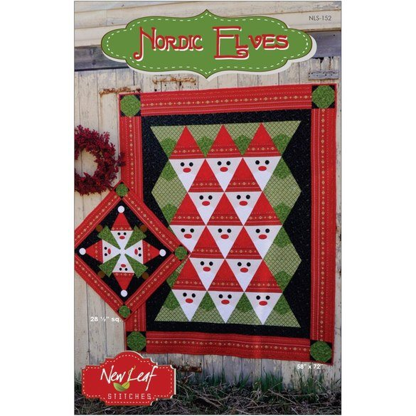 Nordic Elves Quilt and Table Topper Pattern