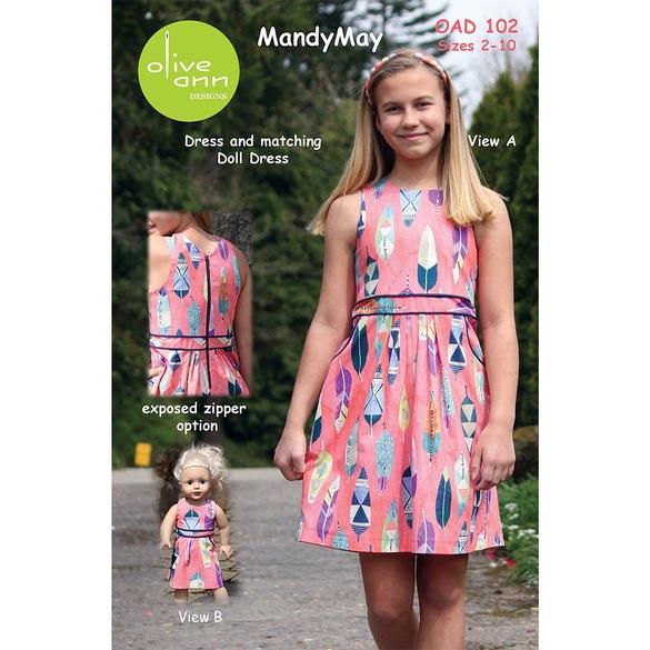 MandyMay Dress Pattern with Matching Doll Dress