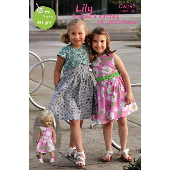 Lily Dress Pattern with Matching Doll Dress