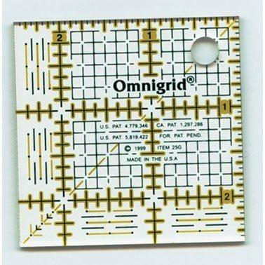 "2.5"" Square Ruler w/ grid, Omnigrid"