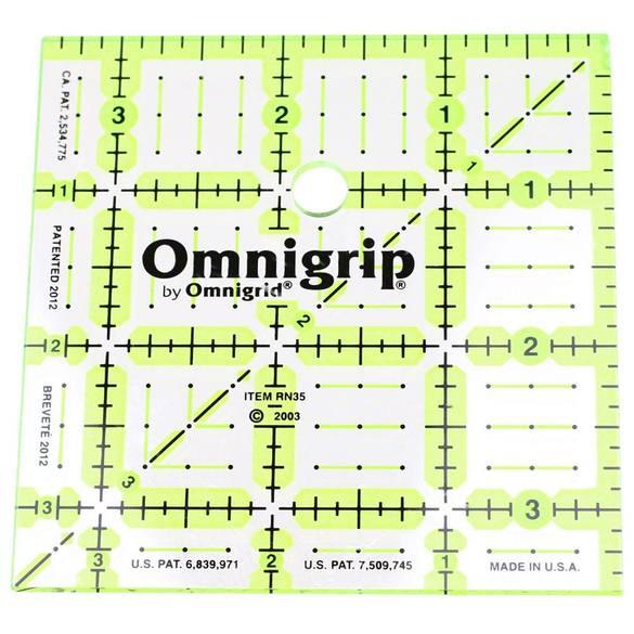 """3.5"""" Square, No-Slip Ruler, Omnigrid"""