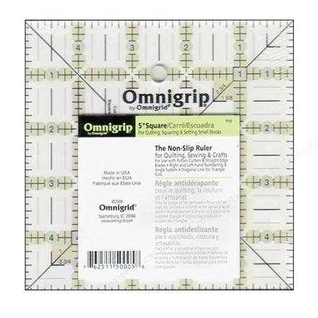 """5"""" Square, No-Slip Ruler, Omnigrid"""