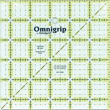 """5.5"""" Square, No-Slip Ruler, Omnigrid"""