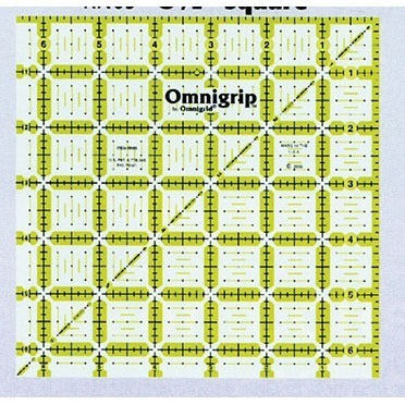 "6.5"" Square, No-Slip Ruler, Omnigrid"