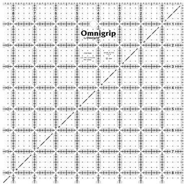 """8.5"""" Square, No-Slip Ruler, Omnigrid"""