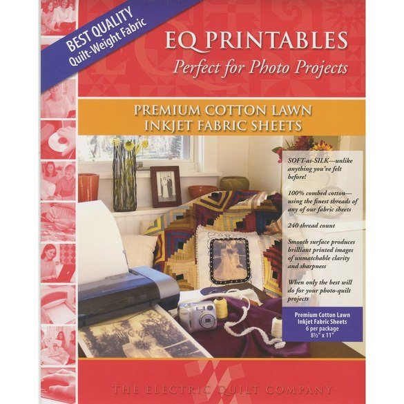 Electric Quilt Company, Printable Premium Cotton Lawn Sheets