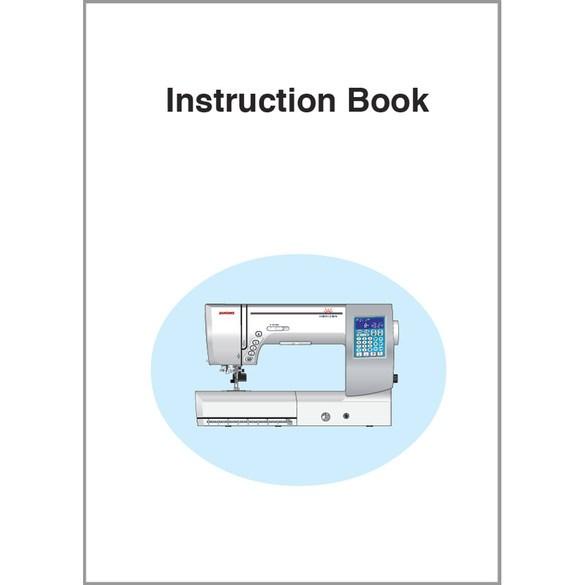 Instruction Manual, Janome MC8200QCPSE