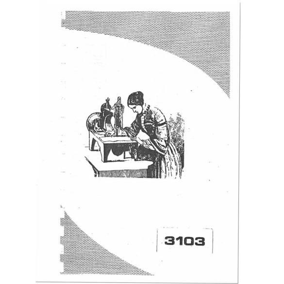 Instruction Manual, Singer 3103