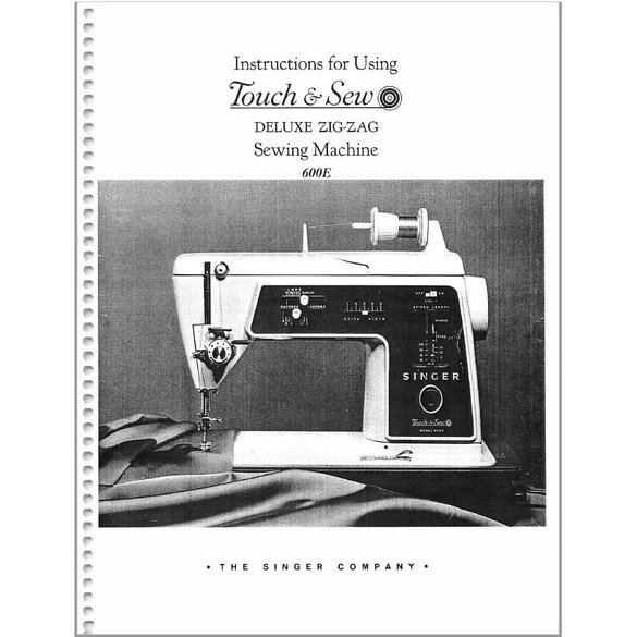 Instruction Manual, Singer 600E