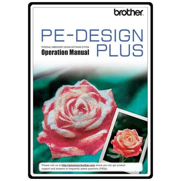 Instruction Manual Brother Pe Design Plus Sewing Parts Online