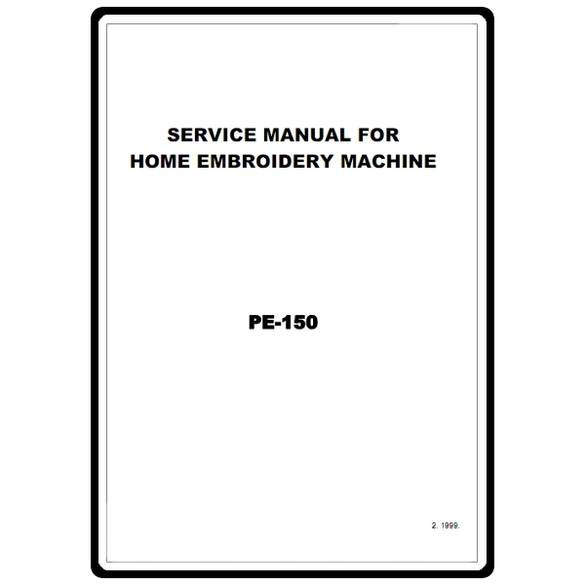 Service Manual, Brother PE150