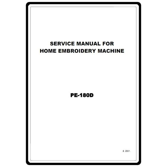 Service Manual, Brother PE180D