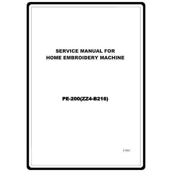 Service Manual, Brother PE-200