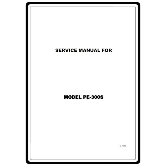 Service Manual, Brother PE300S