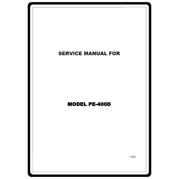 Service Manual, Brother PE400D