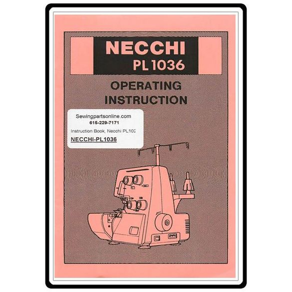 Instruction Manual, Necchi PL1036