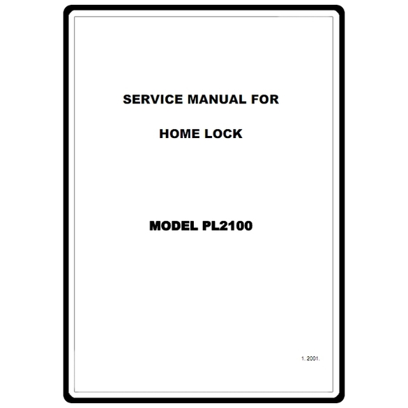 Service Manual, Brother PL2100