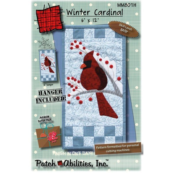 Winter Cardinal Pattern with Hanger