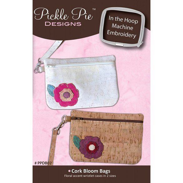 Cork Bloom Bag Embroidery CD - Pickle Pie Designs