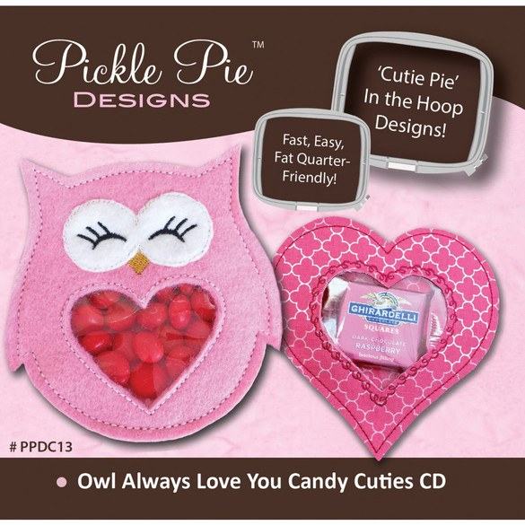 Owl Always Love You Candy Cuties Embroidery Design CD