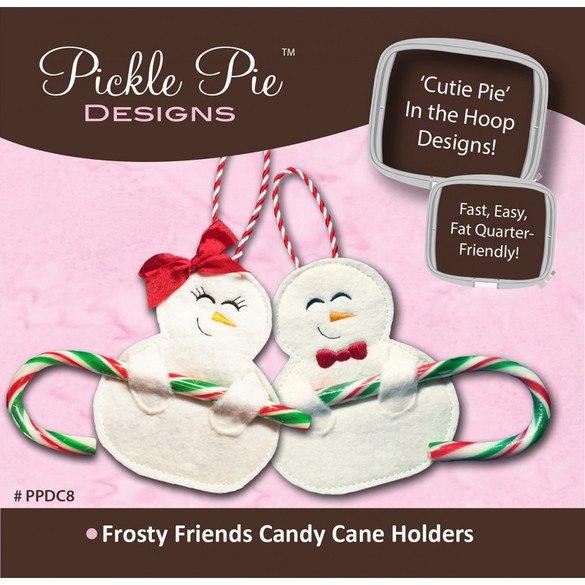 Frosty Friends Candy Cane Holders Pattern CD