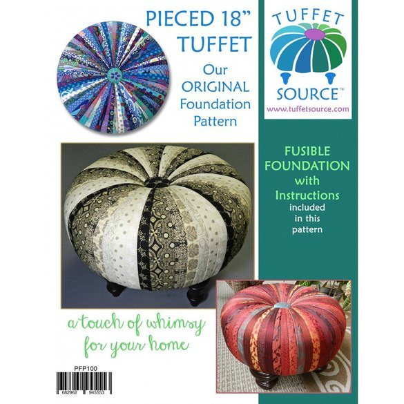 """Pieced 18"""" Tuffet Pattern with Foundation and Guide"""