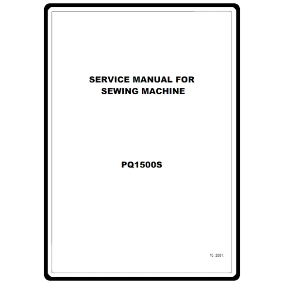 Service Manual, Brother PQ1500S