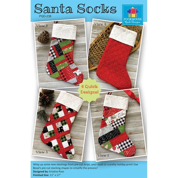 Santa Socks Pattern