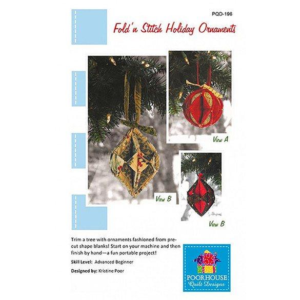 Fold N Stitch Holiday Ornaments Pattern
