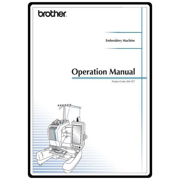 Instruction Manual, Brother PR-650e