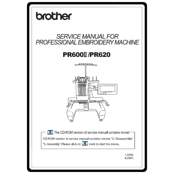 Service Manual, Brother PR600II