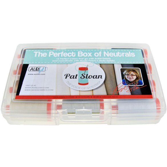 Pat Sloan's Perfect Box of Neutrals Thread Collection, Aurifil (50wt)