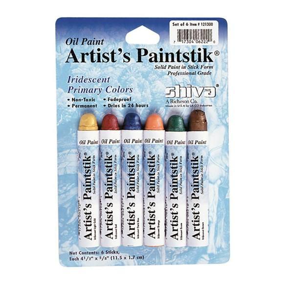 Shiva Artist Paintstick Set, Iridescent Primary Colors - 6pk