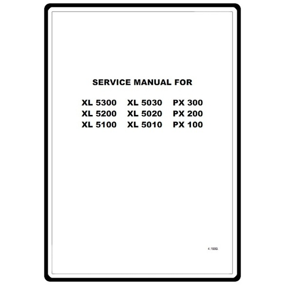 Service Manual, Brother PX100