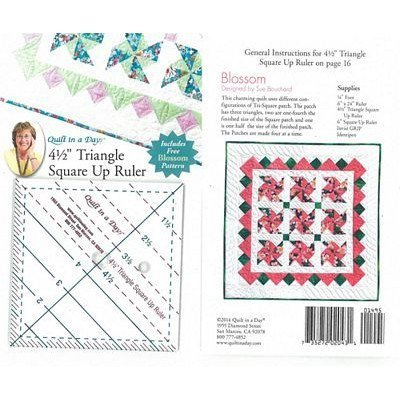 """4-1/2"""" Triangle Square-Up Ruler, Quilt in a Day"""