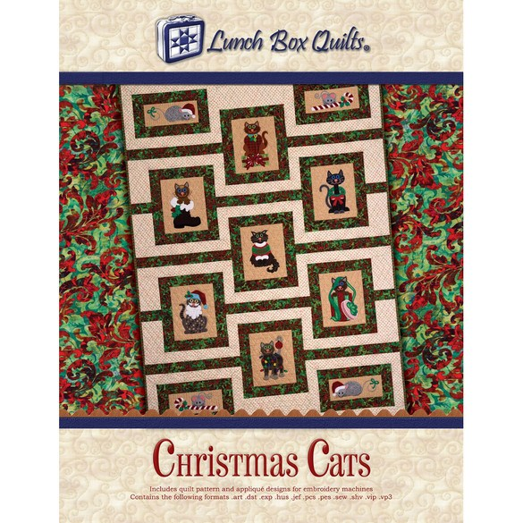 Christmas Cats Quilt Pattern CD