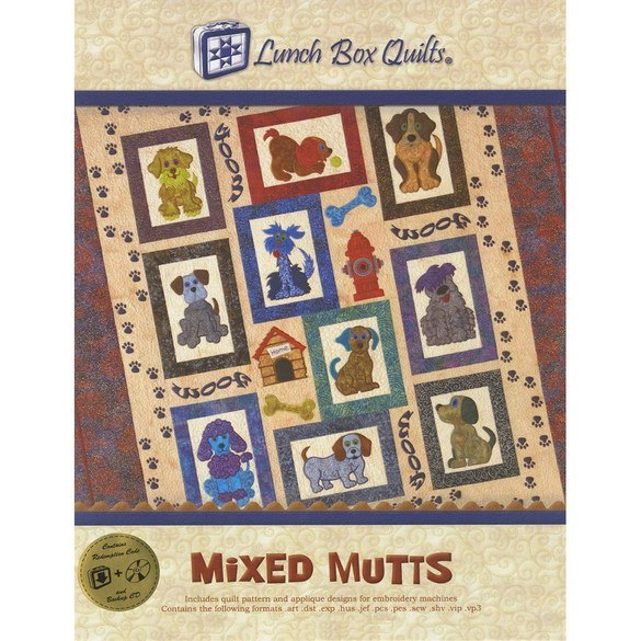 Mixed Mutts Embroidery CD with Patterns - 10 Designs