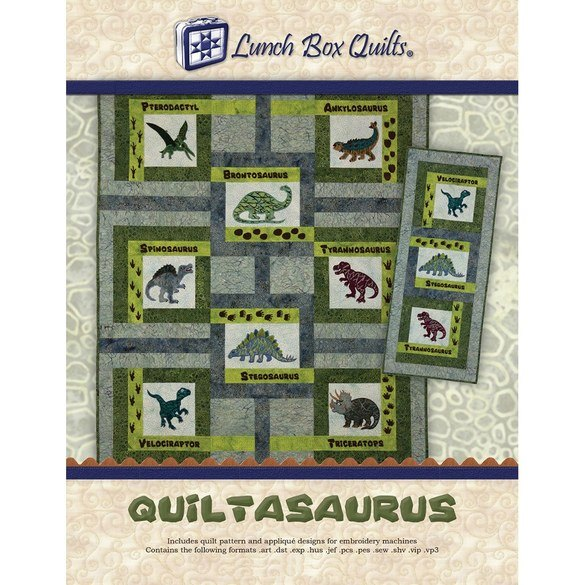 Quiltasaurus Embroidery CD with Patterns - 24 Designs