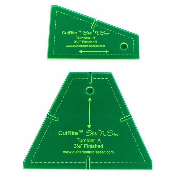 "CutRite, Slit 'N Sew Tumbler Template - 3-1/2"" Finished"