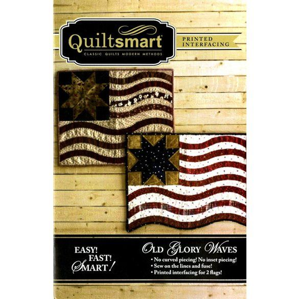 Quiltsmart Old Glory Waves Pattern Kit