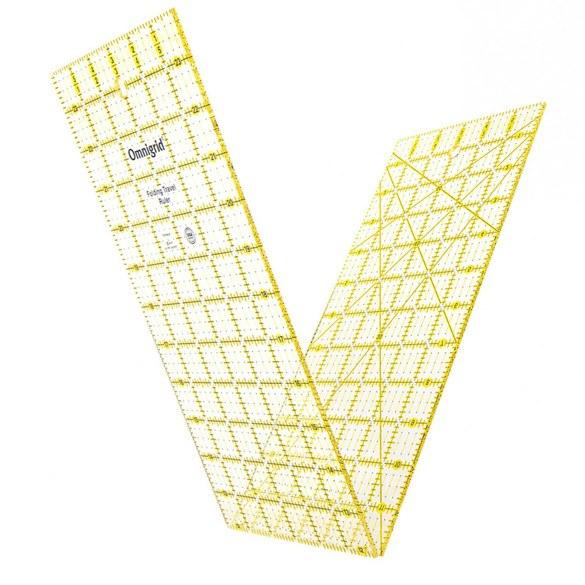 "Omnigrid Folding Travel Ruler - 6"" x 24"""